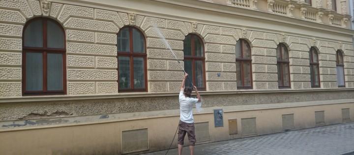 Čištění fasád ze země Praha